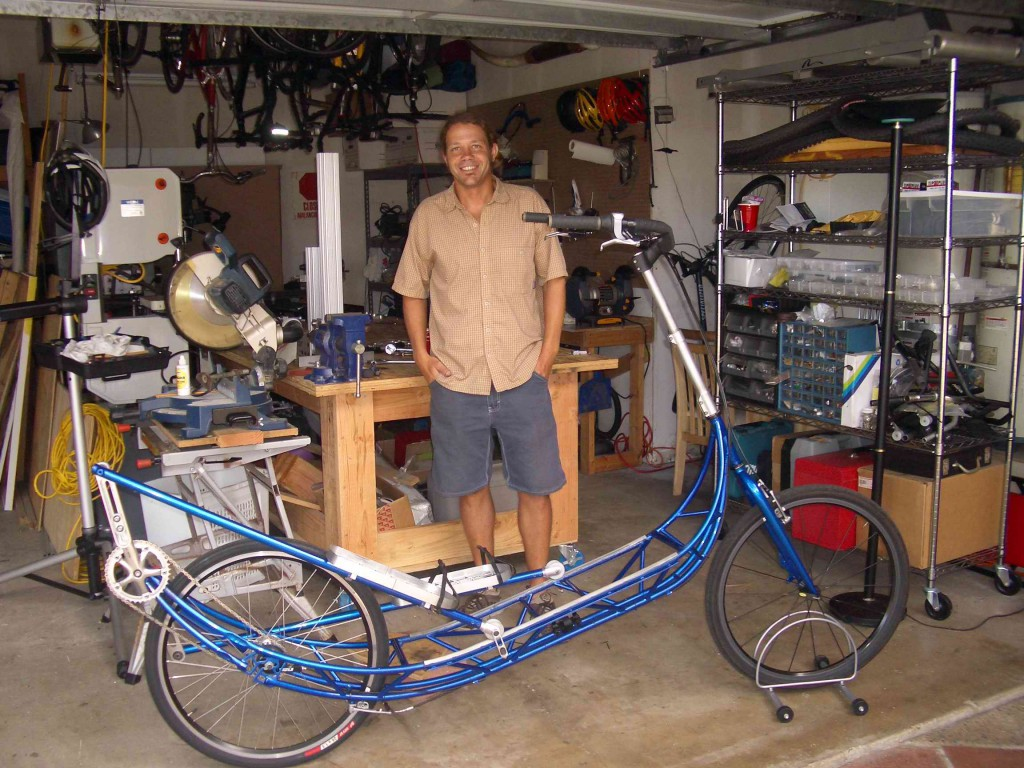 Brent with Proto _2 in his Garage shop