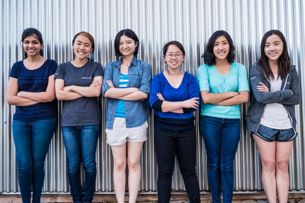 Left to Right: Chandani Doshi, Jialin Shi, Bonnie Wang, Charlene Xia, Tania Yu and Grace Li of Team Tactile.